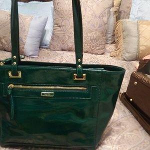 Hunter green hand bag